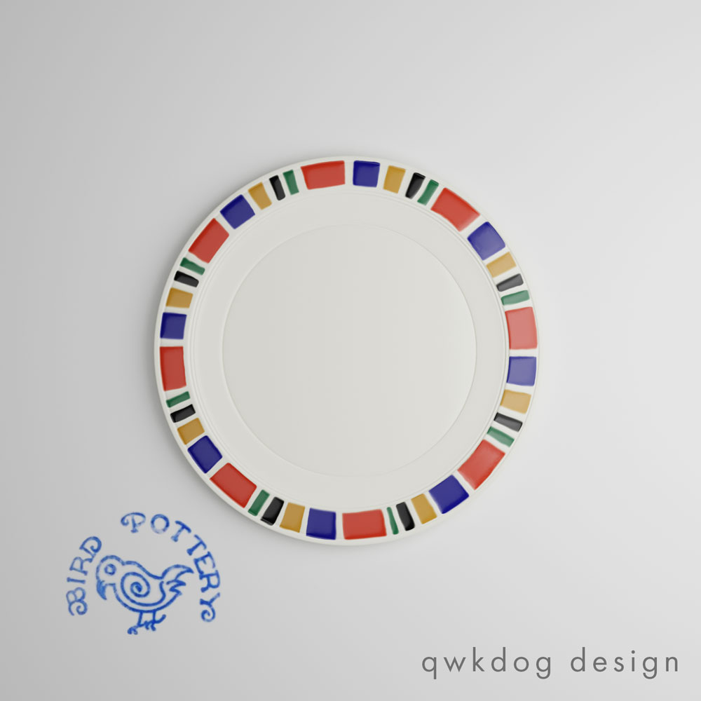 QwkDog 3D Vernon Kilns Harry Bird Polychrome A