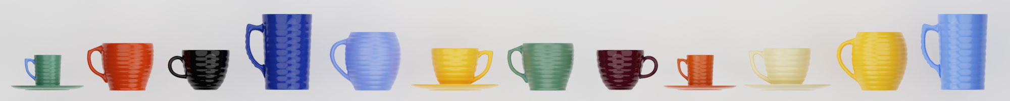 QwkDog 3D Bauer Pottery Cups Mugs Banner