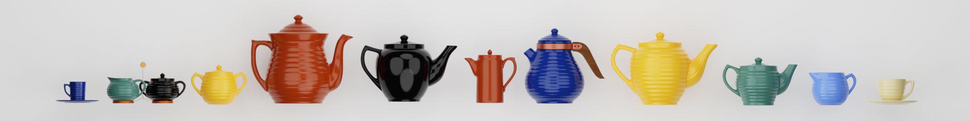 QwkDog 3D Bauer Pottery Teapots Banner