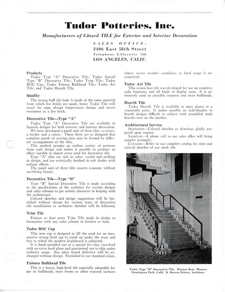 Tudor Tile Catalog