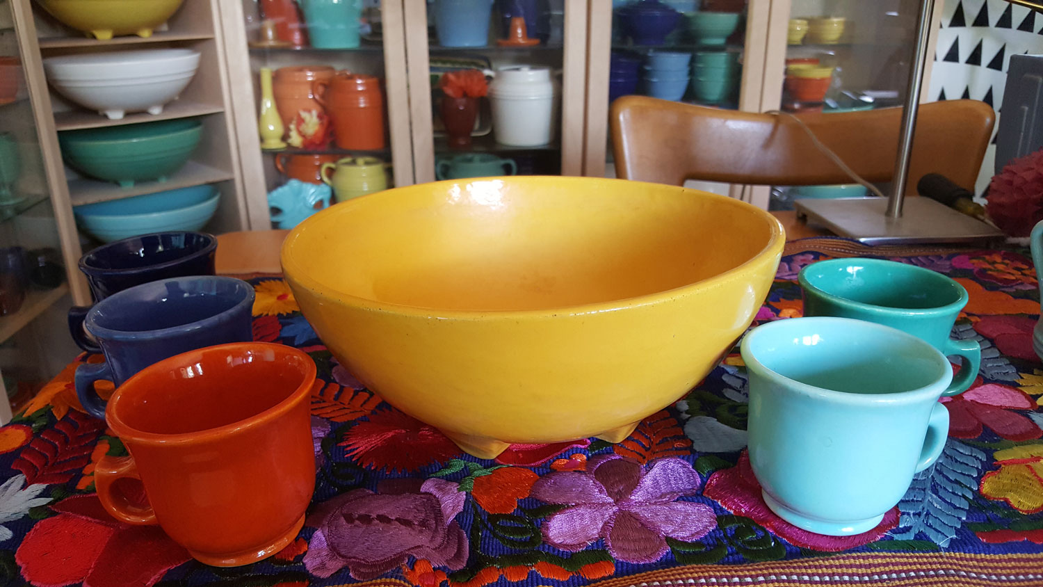 Garden City Bowl and Cups