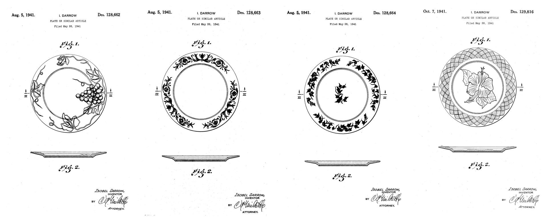 Pacific Pottery Isobel Darrow Patents