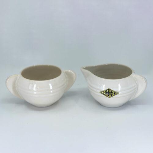 QwkDog Pacific Pottery Hostessware 407-408 Creamer Sugar white