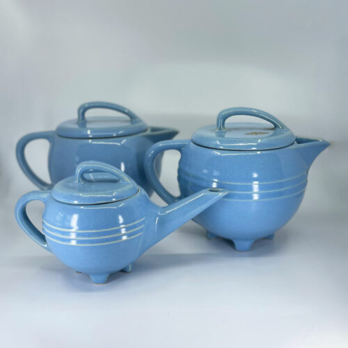 QwkDog Pacific Pottery Hostessware 435 436 448 Pitcher Set delph blue Peter Davis