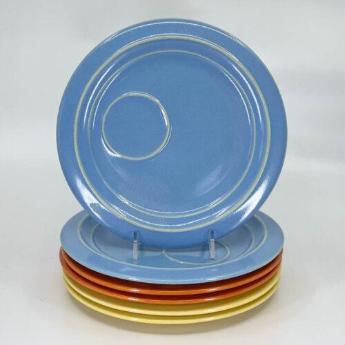 QwkDog Pacific Pottery Hostessware 632 Buffet Plates delph blue