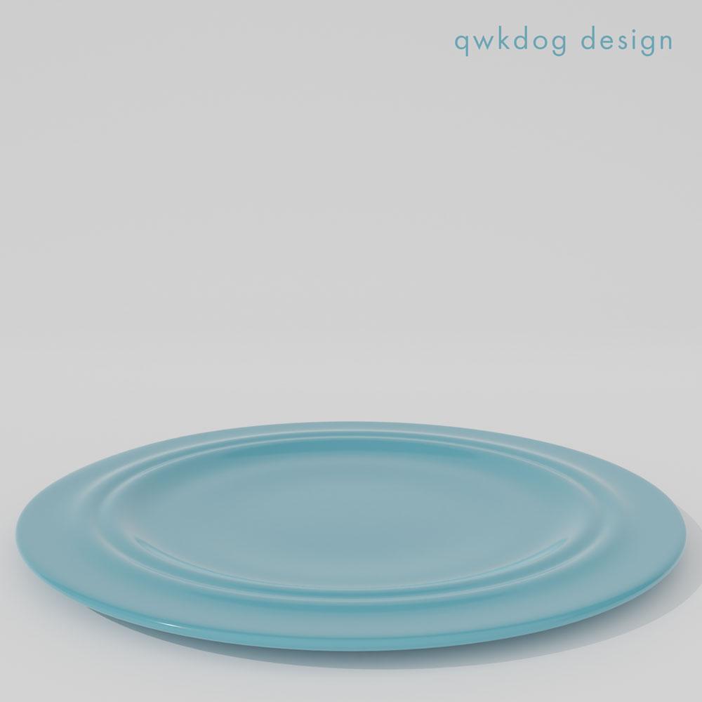 QwkDog 3D Metlox California Pottery Dinner Plate