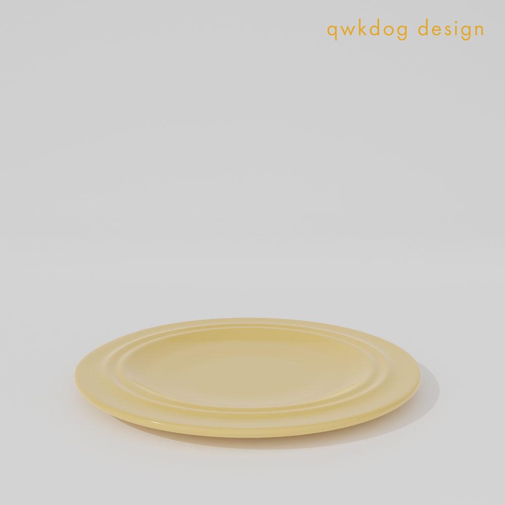 QwkDog 3D Metlox California Pottery Salad Plate