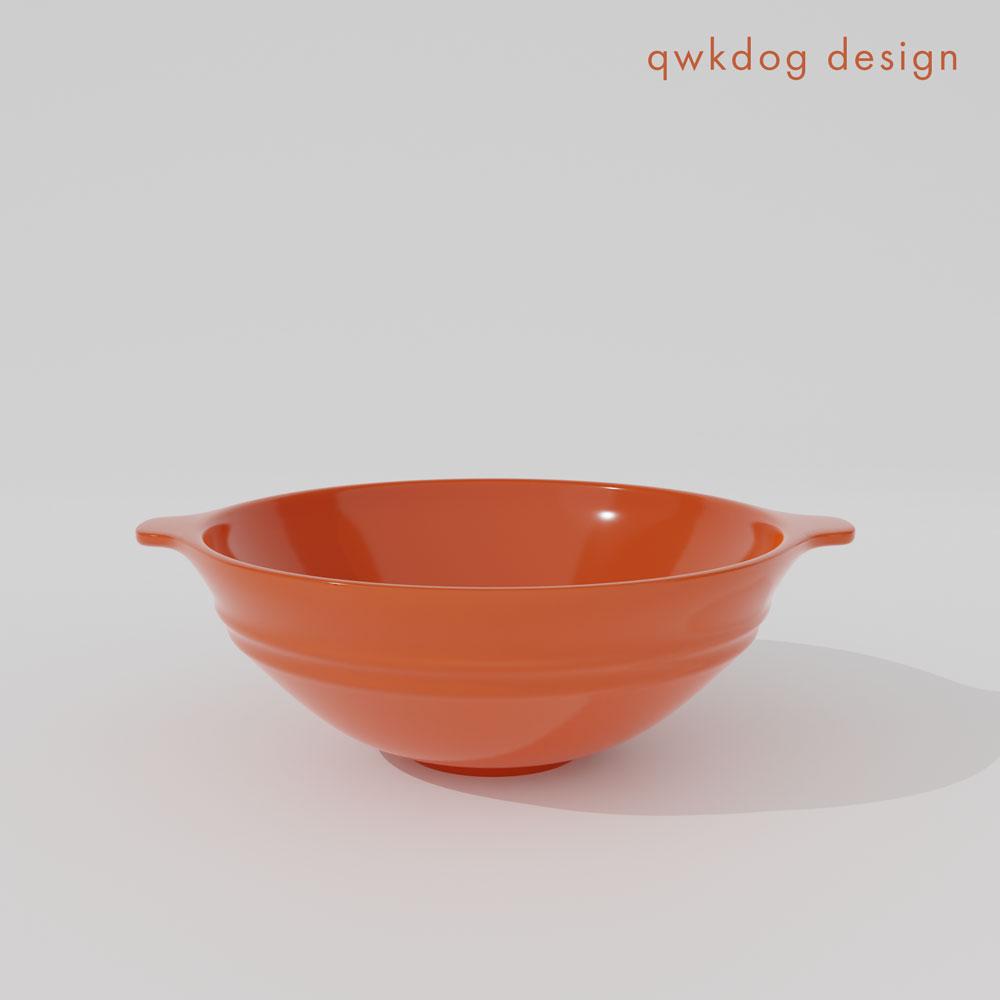 QwkDog 3D Metlox California Pottery Soup Bowl