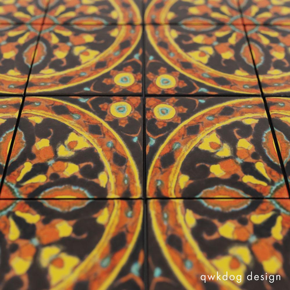 QwkDog 3D Taylor Tile 6x6 Geometric