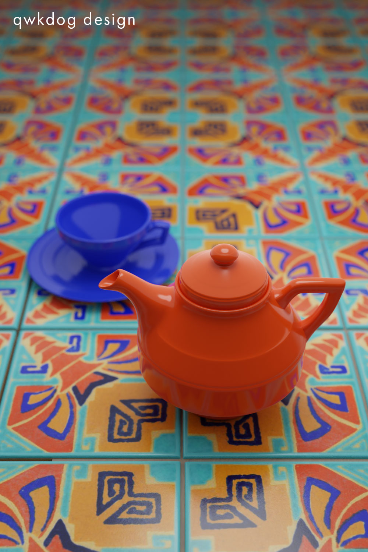 QwkDog 3D Vernon Kilns Early California Tile