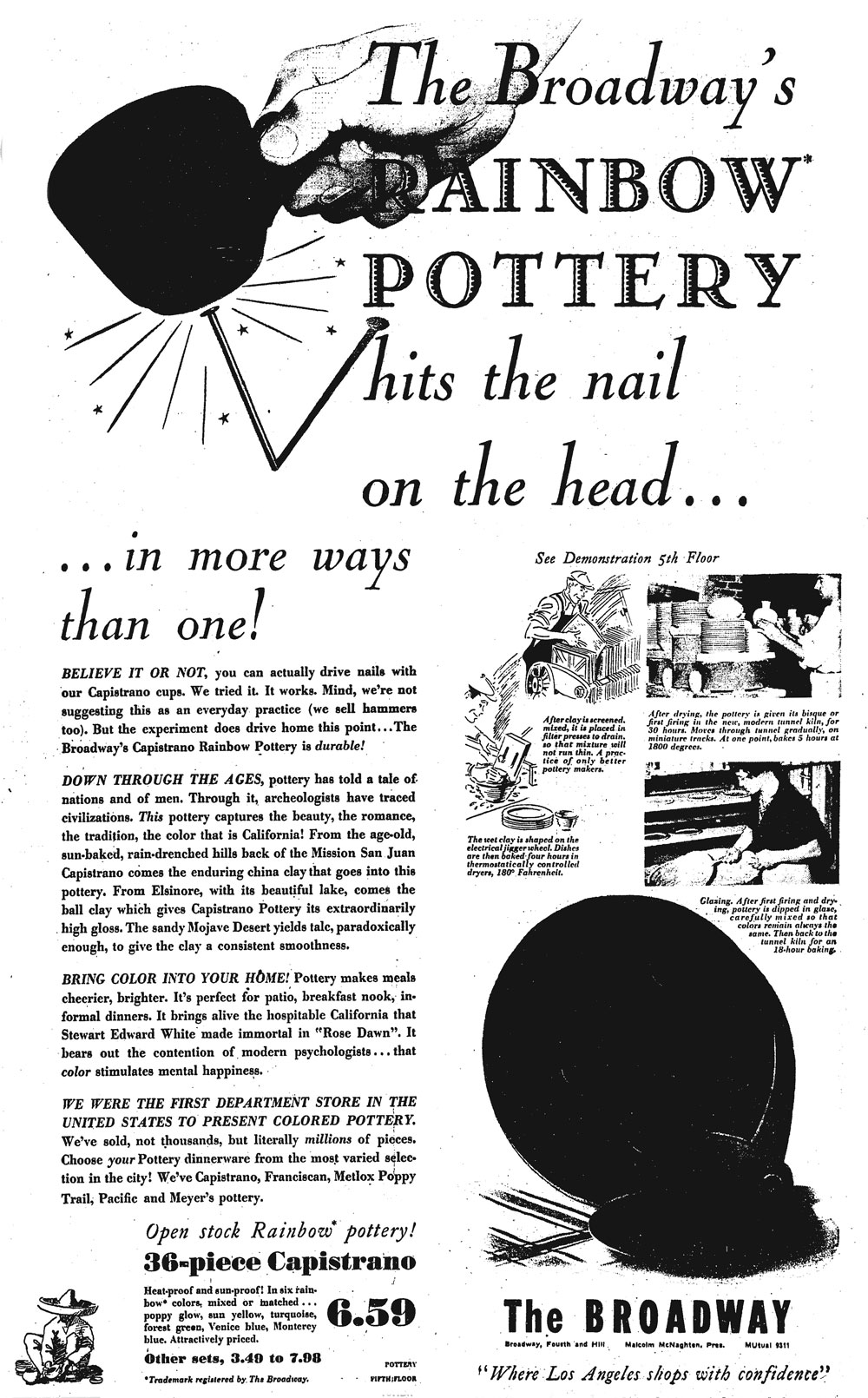 Hollydale Pottery Advertisement