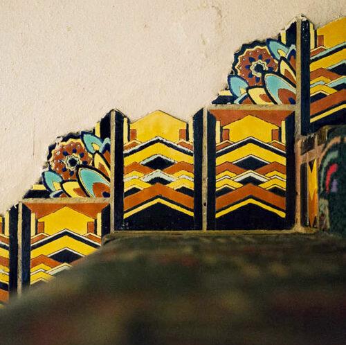 Tudor Tile Warner Theater Stair Detail