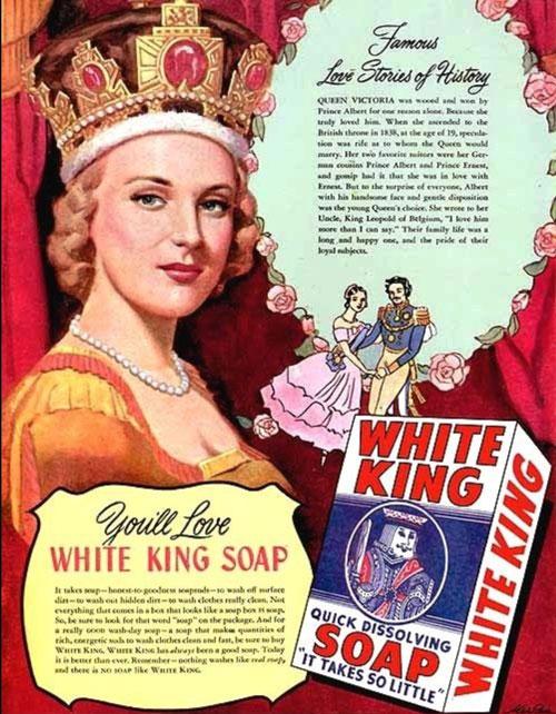 Metlox White King Soap Advertisement