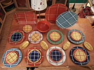 Pacific Pottery Decorated - BG Plaid