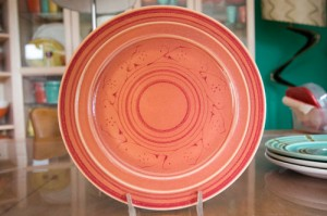Pacific Pottery Decorated Plate (G)