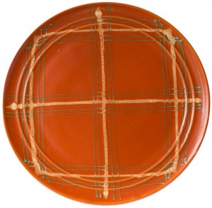 BG Plaid Chop Plate