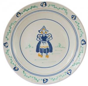 Dutch Girl Dinner Plate